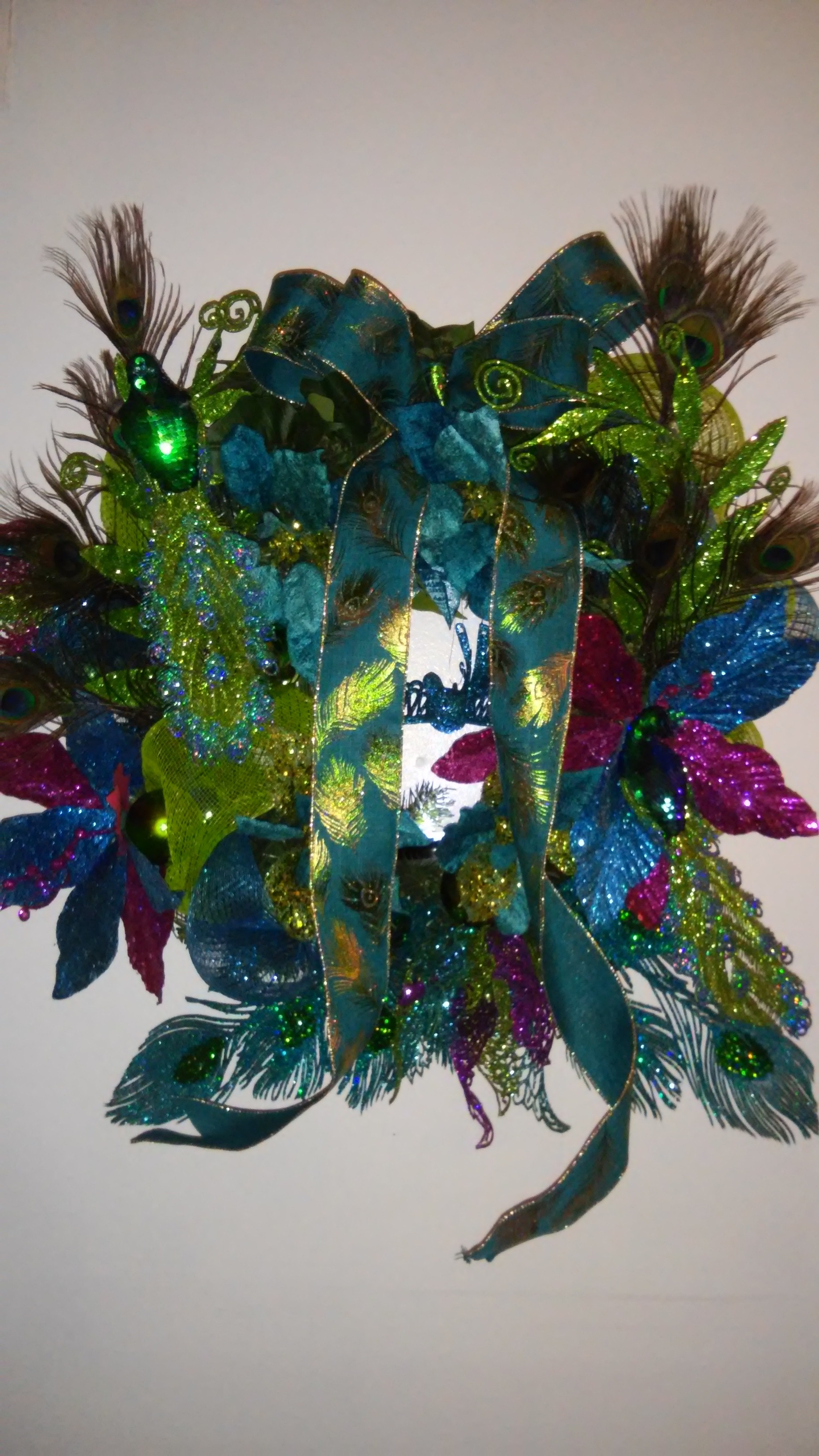 Peacock Wreath 24inches