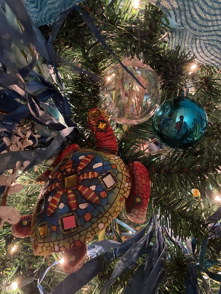 Jeweled turtle ornament