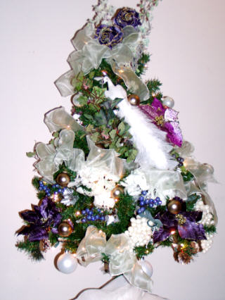 Decorated Royal Peacock Christmas Tree