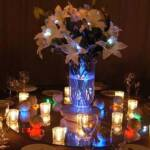 Lighted Vases with light accents on Flowers