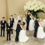 Figurines Various Races  Bride and Groom Interchangeable 6.5 inches
