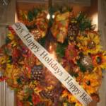 My gift to Diane and Lloyd a Royal Fall Theme Wreath