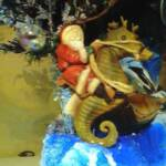 Seahorse and Santa  ornament